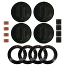 Range Kleen 8214 Universal 4-Pack Black Replacement Knob Kit Gas Stove/Range
