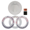 Range Kleen 8231 Universal 1-Pack White Replacement Knob Kit Gas Stove/Range