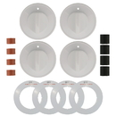 Range Kleen 8234 Universal 4-Pack White Replacement Knob Kit Gas Stove