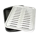 Range Kleen BP100 2-Piece Heavy Duty Porcelain and Chrome Plated Full Size Broiler Pan