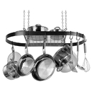 Range Kleen CW6000R Black Enameled Steel Oval Hanging Pot Rack