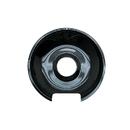 Range Kleen P103 Style E Small Heavy Duty Black Porcelain Drip Pan