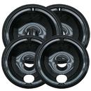 Range Kleen P119204XN Drip Bowl Porcelain/Black 2 Sm/6