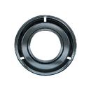 Range Kleen P300 Style G 8.25-Inch Round Heavy Duty Black Porcelain Drip Pan