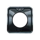 Range Kleen P400 Style I 7.75-Inch Square Heavy Duty Black Porcelain Drip Pan