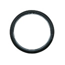 Range Kleen PR8GE Style D Large Heavy Duty Black Porcelain Trim Ring