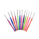 GOGO 12 PCS Loom Knitting Hooks for Rubber Bands, Loom Bracelets Hooks, Mixed Colors Weaving Crochet Hooks, Loom Tool Band DIY Crafts
