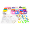 GOGO Rainbow Rubber Bands Refill Kit 15000 Bands 4 Weavers 14 Hooks 375 Clips 50 Charms 100 Beads