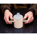 Ableware 745720001 Arthro thumbs-Up Cup W/ Lid by Maddak