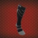 CSX X220 Athletic Compression Sock-20-30 mmHg-Silver/Black-Small