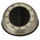Taylor 5830 Easy Grip Long Ring Mechanical Timer-Stainless Steel