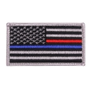 Rothco Thin Blue Line / Thin Red Line US Flag Patch