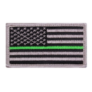 Rothco Thin Green Line US Flag Patch - Hook Back