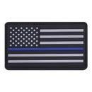 Rothco PVC Thin Blue Line Flag Patch