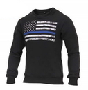 Rothco 2844 Thin Blue Line Flag Crew Neck Sweatshirt