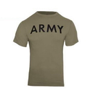 Rothco AR 670-1 Coyote Brown Army Physical Training T-Shirt