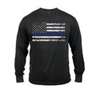 Rothco Long Sleeve Thin Blue Line T-Shirt