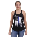 Rothco Women Thin Blue Line Flag Racerback Tank Top