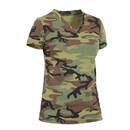 Rothco Womens Long Length Camo V-Neck T-Shirt