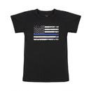 Rothco Kids Thin Blue Line US Flag T-Shirt