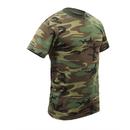 Rothco Childrens Woodland Camo Heavyweight T-Shirt