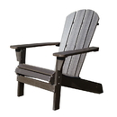 Northbeam ADC0481120810 Faux Wood Relaxed Adirondack Chair, Espresso