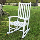 Northbeam MPG-PT-41110WP Traditional Rocking Chair, White Painted