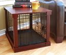 Zoovilla MPMC001 Cage with Crate Cover, Mahogany, Medium