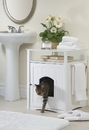 Zoovilla MPS006 Cat Washroom Litter Box Cover / Night Stand Pet House, White