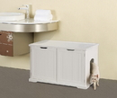 Zoovilla MPS010 Cat Washroom Bench, White