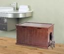 Zoovilla MPS012 Cat Washroom Bench, Walnut