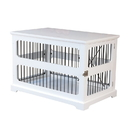 Zoovilla PTH0641720110 Slide Aside Crate And End Table, White, Medium