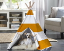 Zoovilla PTP0020202200 Pet Teepee, Orange Stripe, Large