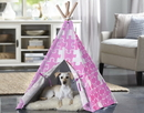 Zoovilla PTP0050203100 Pet Teepee, Pink Puzzle, Medium