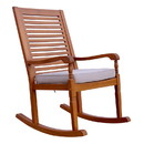 Northbeam ROK0260210010 Nantucket Rocking Chair, Natural Colour Stain With Grey Cushion