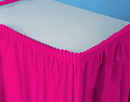 Creative Converting 010030 Hot Magenta Plastic Tableskirt 14' Solid (Case of 6)