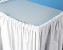 Creative Converting 010047C White Plastic Tableskirt 14' Solid (Case of 6)