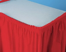 Creative Converting 010052 Classic Red Plastic Tableskirt 14' Solid (Case of 6)
