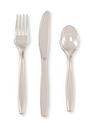 Creative Converting 010421 Clear Assorted Premium Plastic Cutlery (Case of 288)