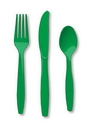 Creative Converting 010434 Emerald Green Cutlery (Case of 288)