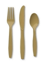 Creative Converting 010442 Glittering Gold Cutlery (Case of 288)