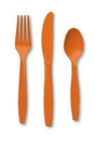 Creative Converting 010612 Sunkissed Orange Cutlery (Case of 288)