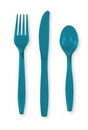 Creative Converting 013131 Turquoise Cutlery (Case of 288)