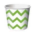 Creative Converting 051051 Fresh Lime Chevron Treat Cups (Case of 72)