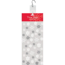 Creative Converting 071041 Snowflake Swirls Cello Bags, Large, Snowflakes (Case Of 12)