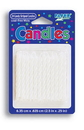 Creative Converting 080010034 Striped Candle White (Case of 288)