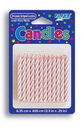 Creative Converting 080200034 Striped Candle Pink (Case of 288)