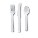 Creative Converting 080601007 White Cutlery (Case of 144)