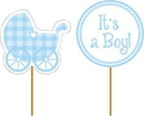 Creative Converting 093228 Baby Boy Cupcake Picks (Case of 144)