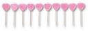 Creative Converting 101040 Pick Candle Heart, Pink W/Irid Glitter (Case of 120)